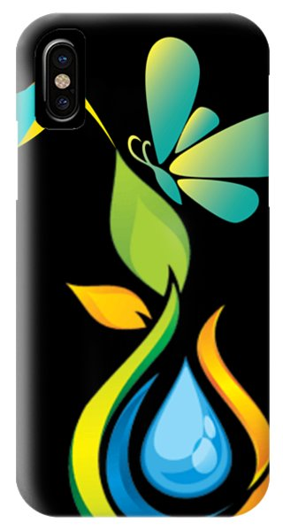 iPhone Case - The Kissing Flower And The Butterfly On Flower Bud by Ize Barbosa DIAMOND IS FOREVER