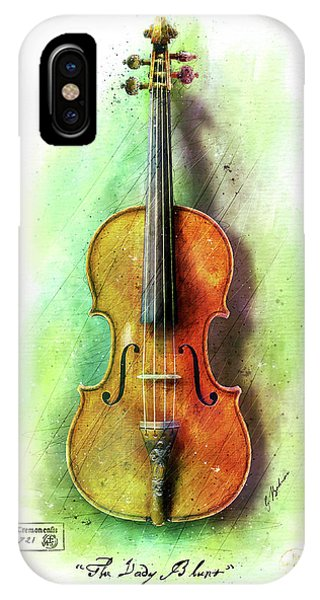 Worship iPhone Case - The Lady Blunt Stradivarius V. 1 by Gary Bodnar