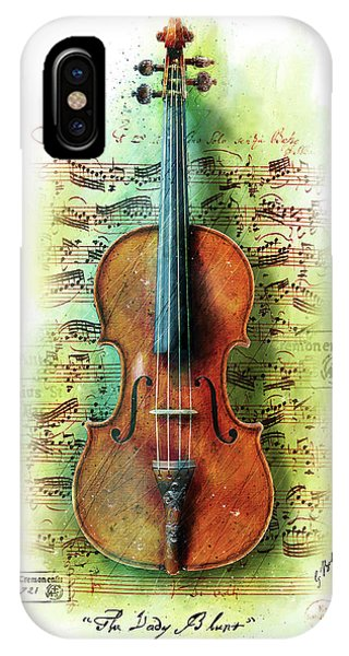 Worship iPhone Case - The Lady Blunt Stradivarius V. 2 by Gary Bodnar