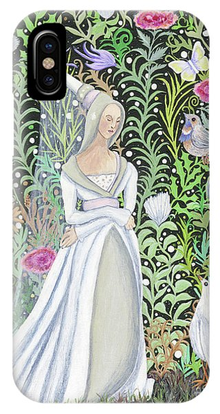 The Lady Vanity Takes A Break From Mirroring To Dream Of An Unusual Garden  IPhone Case