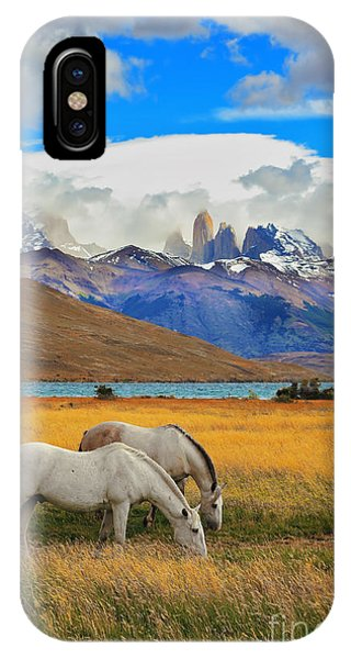 Cloudscape iPhone Case - The Landscape In The National Park by Kavram