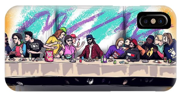 Nostalgia iPhone Case - The Last 90s Supper by Ludwig Van Bacon