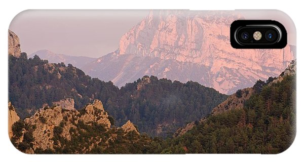 IPhone Case featuring the photograph The Last Of The Light At Pena Montanesa by Stephen Taylor