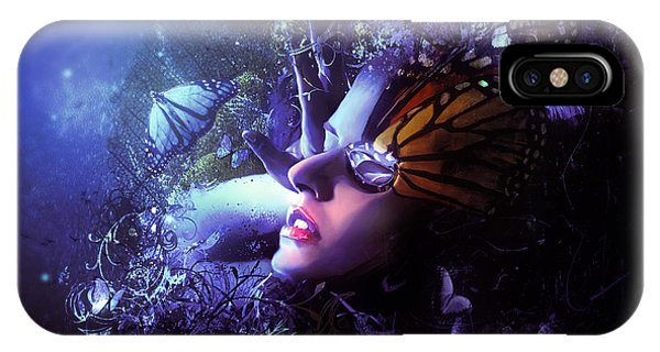 Fairytales iPhone Case - The Last Travel Of The Butterflies by Mario Sanchez Nevado
