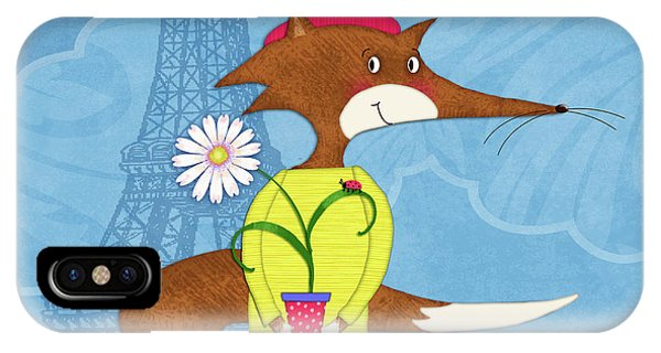The Letter F For French Fox IPhone Case