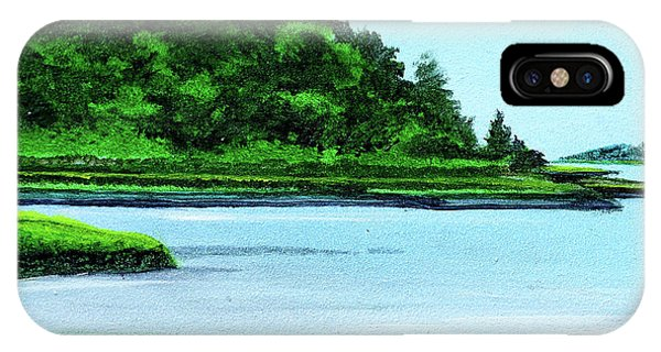 The Little River Gloucester, Ma IPhone Case