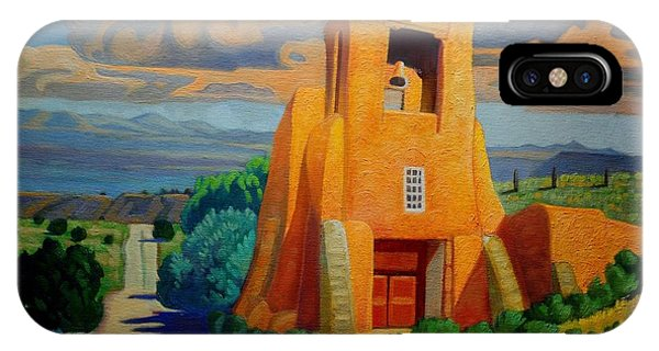 Adobe iPhone Case - The Long Road To Santa Fe by Art West