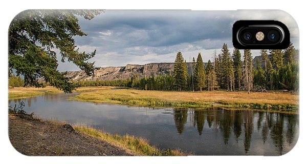 IPhone Case featuring the photograph The Madison River At West Yellowstone by Lon Dittrick
