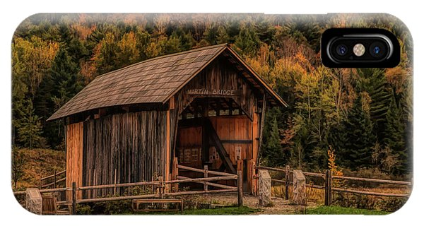 The Martin Covered Bridge In Marshfield Vt. IPhone Case