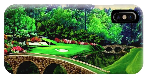 Andrew iPhone Case - The Masters 12th Hole by Ron Chambers