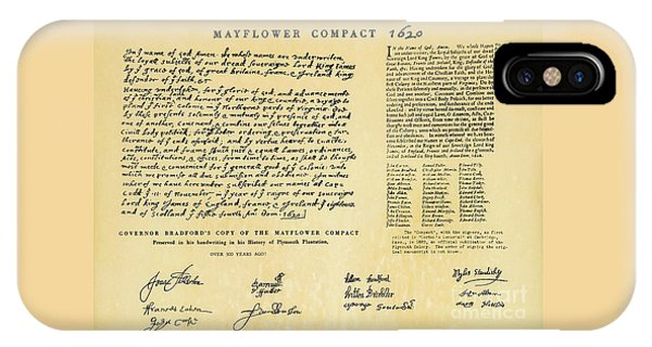 The Mayflower Compact  IPhone Case