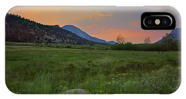 Rocky Mountain Np iPhone Case - The Meadow - Rocky Mountain National Park - Sunrise by Nikolyn McDonald