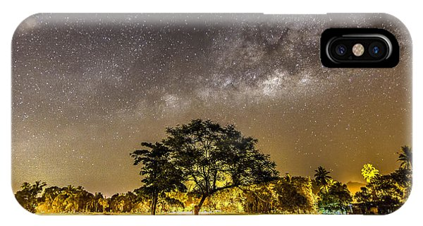 The Milky Way And The Tree Stand Alone Phone Case by A.aizat