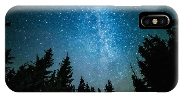 Shooting iPhone Case - The Milky Way Rises Over The Pine Trees by Andrey Prokhorov