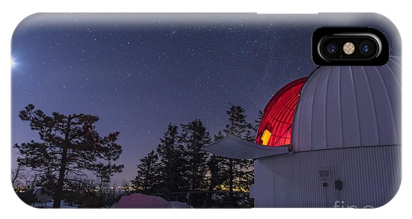 Dome iPhone Case - The Moon Lights Up The Observatory by John A Davis