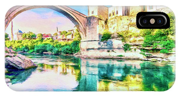 Mostar iPhone Case - The Mostar Bridge by Dominic Piperata