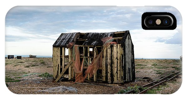 The Net Shack, Dungeness Beach IPhone Case