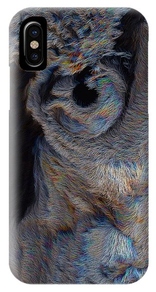 IPhone Case featuring the digital art The Old Owl That Watches by ISAW Company