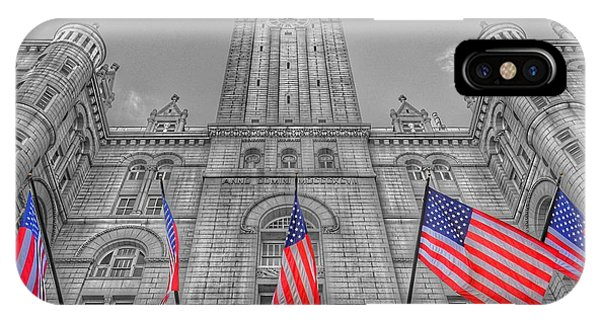 IPhone Case featuring the photograph The Old Post Office Now Trump International Hotel In Washington D.c. by Marianna Mills