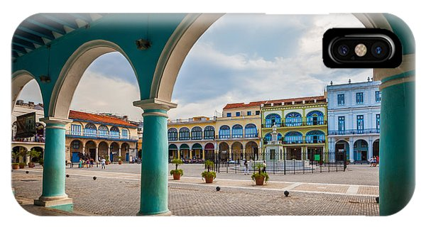 Travel Destination iPhone Case - The Old Square Or Plaza Vieja From The by Maurizio De Mattei