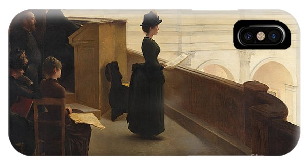 Organ iPhone Case - The Organ Rehearsal, 1885  by Henri Lerolle