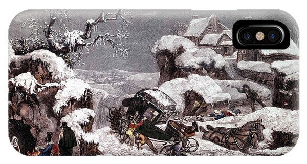 Accident iPhone Case - The Overturned Carriage by Philibert Louis Debucourt