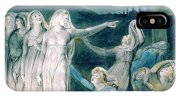 Sea Floor iPhone Case - The Parable Of The Wise And Foolish Virgins - Digital Remastered Edition by William Blake