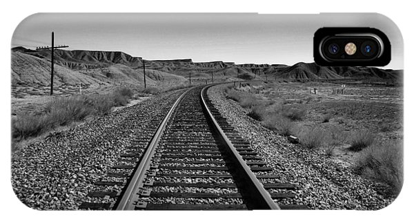 Middle Of Nowhere iPhone Case -  The Path In Desolation by Jeff Swan