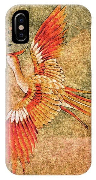 The Peahen's Gift - Kimono Series IPhone Case