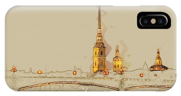 Culture iPhone Case - The Peter And Paul Fortress, Saint by Romas photo