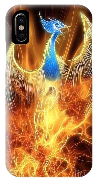 Tribal iPhone Case - The Phoenix Rises From The Ashes by John Edwards