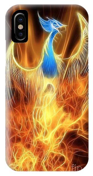 Mythology iPhone Case - The Phoenix Rises From The Ashes by John Edwards