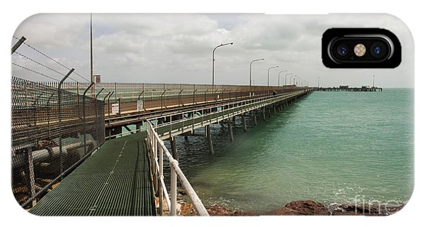 Sandstone iPhone Case - The Port Of Broome With A Mesh  Walk by Alybaba