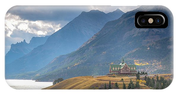 The Prince Of Wales Hotel Overlooking Upper Waterton Lakes IPhone Case