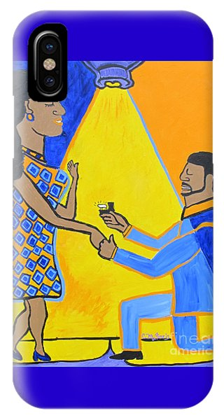 IPhone Case featuring the painting The Proposal by Christopher Farris