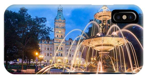 Quebec City iPhone Case - The Quebec Parliament Building And The by Maurizio De Mattei