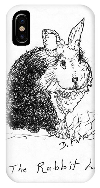The Rabbit Lady Drawing IPhone Case