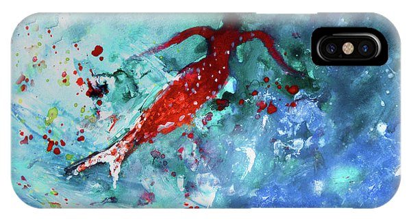 iPhone Case - The Red Siren by Miki De Goodaboom