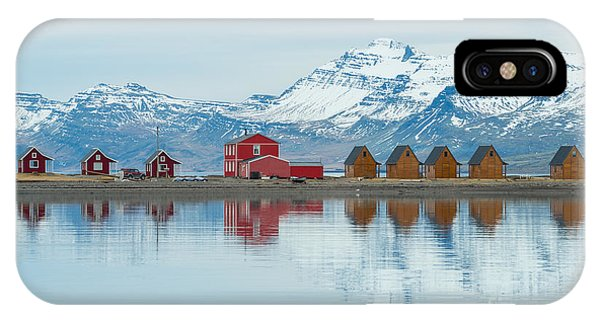 Fisherman iPhone Case - The Reflection Of The Small Cottage In by Boyloso
