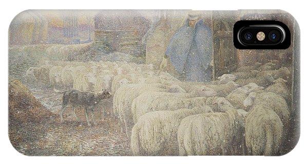 Barnyard iPhone Case - The Return Of The Shepherd by Adriaan Josef Heymans