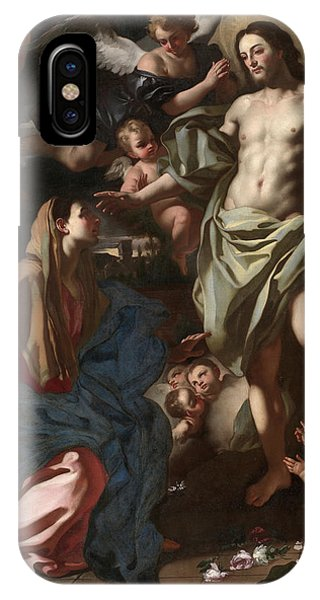 My Son iPhone Case - The Risen Christ Appearing To The Virgin, 1708 by Francesco Solimena