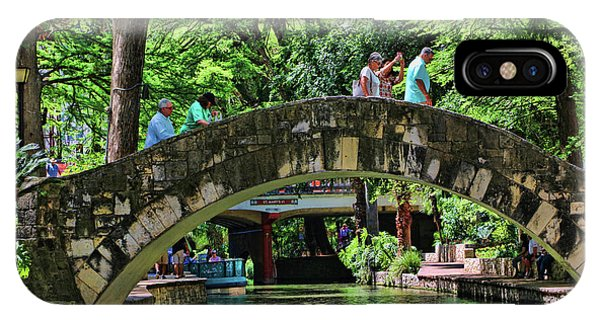 Umbrella Pine iPhone Case - The River Walk # 10 - San Antonio by Allen Beatty