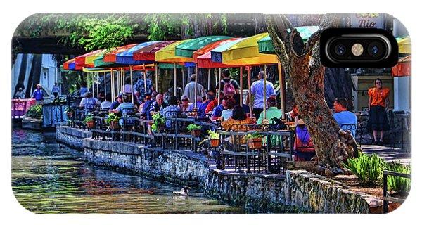 Umbrella Pine iPhone Case - The River Walk # 6 - San Antonio by Allen Beatty