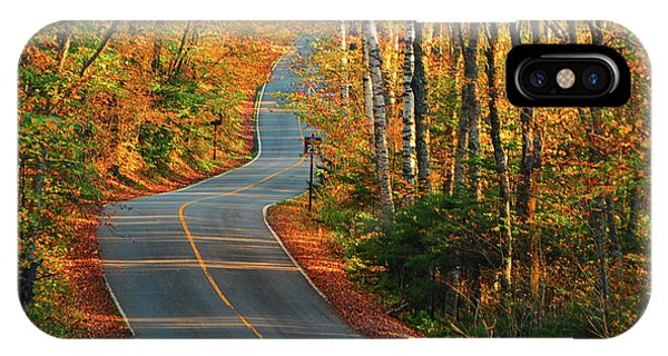 IPhone Case featuring the photograph The Road Up Mount Greylock by Raymond Salani III