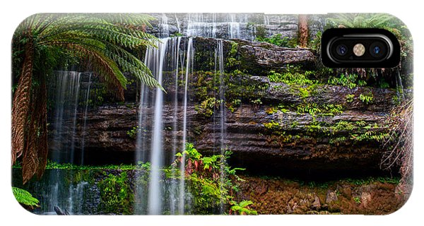 Sandstone iPhone Case - The Russell Falls, A Tiered Cascade by Yevgen Belich