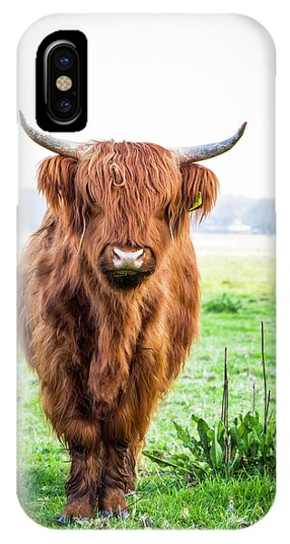 IPhone Case featuring the photograph The Scottish Highlander by Anjo Ten Kate