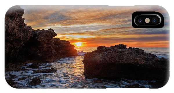 The Sea In Oropesa At Sunrise On The Orange Blossom Coast IPhone Case