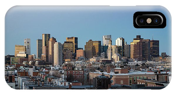 The Skyline Of Boston In Massachusetts, Usa On A Clear Winter Ev IPhone Case