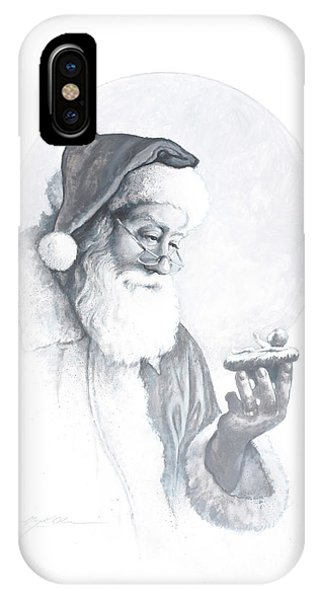 Santa Claus iPhone Case - The Spirit Of Christmas Vignette by Greg Olsen