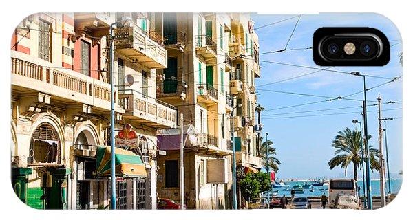Egyptian iPhone X Case - The Street Of Alexandria, Egypt by Krechet
